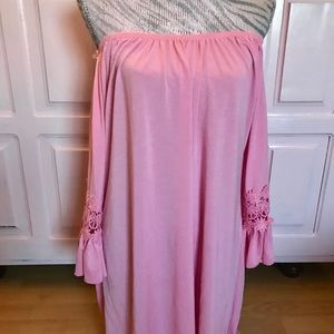 Dresses & Skirts - Sexy pink off the shoulder dress top